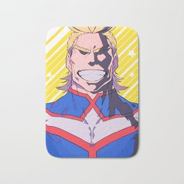 Smiling All Might Bath Mat