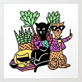 OmniFocus 3 Cool Cats Art Print