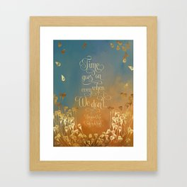 Time goes on even when we don't. Unravel Me Framed Art Print