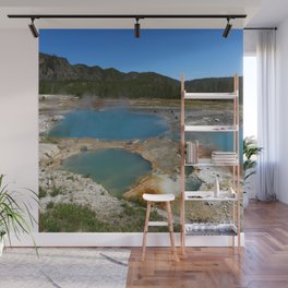 Turquoise Geothermal Field  Wall Mural