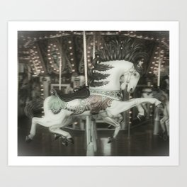 Merry Horse Art Print
