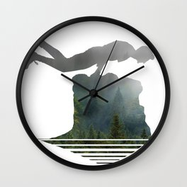 Random Planking in the Wilderness Wall Clock