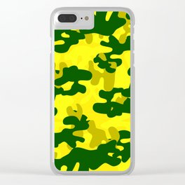 Camouflage (Yellow) Clear iPhone Case