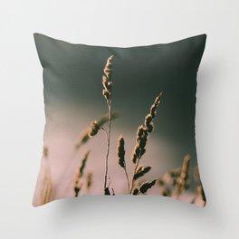 crop field, countryside Throw Pillow