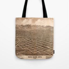 Map Of Salt Lake City 1875 Tote Bag