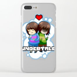 Undertale - Chose your destiny Clear iPhone Case