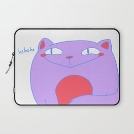 Smug Pastel Kitty Laptop Sleeve