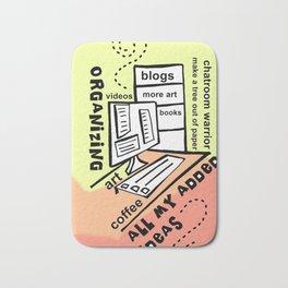 Organizing - Zine Page Bath Mat