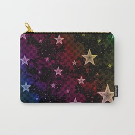 Rainbow Neon Stars Carry-All Pouch