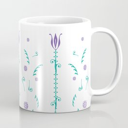 Spring Breeze - tall flowers - purple Coffee Mug