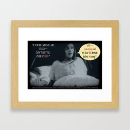 "'Ellen Hutter', FROM THE FILM "" Nosferatu vs. Father Pipecock & Sister Funk (2014)"" Framed Art Print"