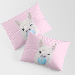 BUBBLE GUM LLAMA Pillow Sham