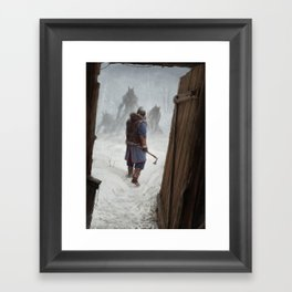 Knock, Knock. Framed Art Print