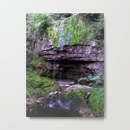 Waterfall Sgwd Henrhyd Drips Metal Print