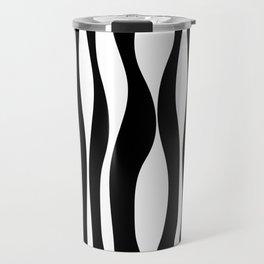 Black & White Print Travel Mug