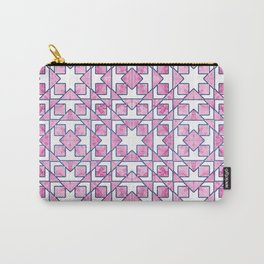 Beautiful Pink and Blue Geometric Pattern Carry-All Pouch