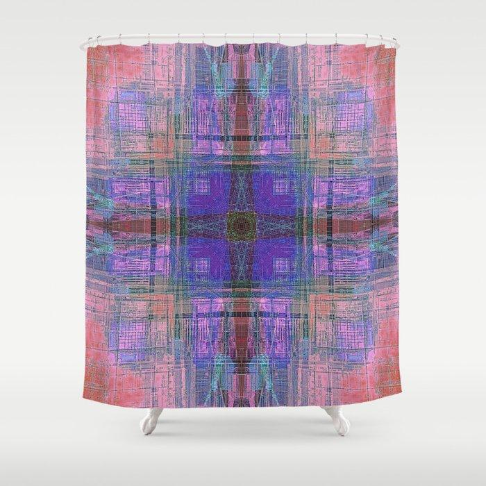 Southwestern Crane Shower Curtain