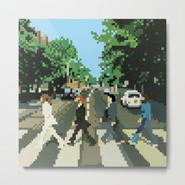 Pixel Abbey Road Metal Print