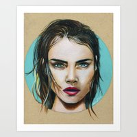 cara Art Prints featuring Cara by Akshay R Depala