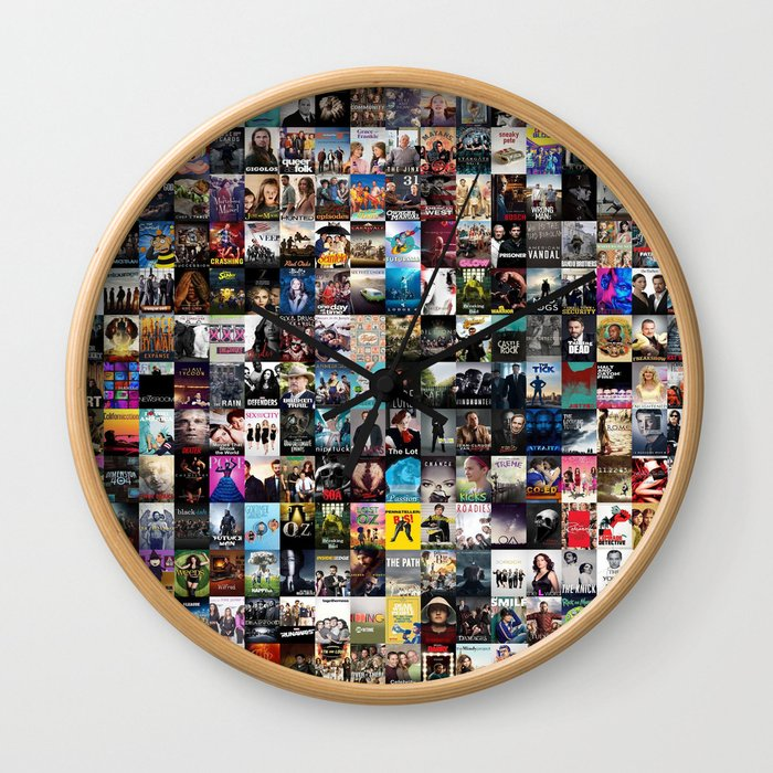 Cable Television Series Wall Clock