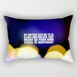 """My mother told me... """"Ruther Bader Ginsburg"""" Life Inspirational Quote Rectangular Pillow"""