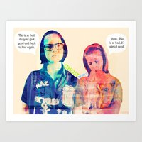 ghost world Art Prints featuring ENID & REBECCA (Ghost World)  by Art By MOP$