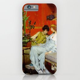 Confidences 1869 by Sir Lawrence Alma Tadema | Reproduction iPhone Case