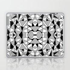 Ab Lines Tile with Black Blocks Laptop & iPad Skin