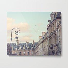 PLACE DES VOSGES (Paris, France) Metal Print