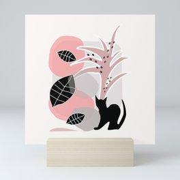 Cat with Tree 2 Mini Art Print