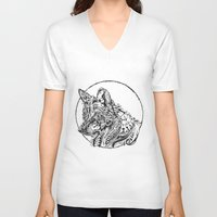 dreamer V-neck T-shirts featuring Dreamer by René Campbell