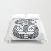 tiki Duvet Covers featuring Tiki  by AndreaGeddes
