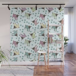 Pajama'd Baby Goats - Blue Wall Mural