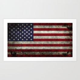 USA flag - in Super Grunge Art Print