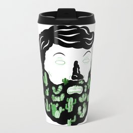 Cactus Beard Dude Metal Travel Mug