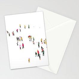 Ice skating rink Stationery Cards