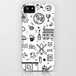 Summer Vectors iPhone Case