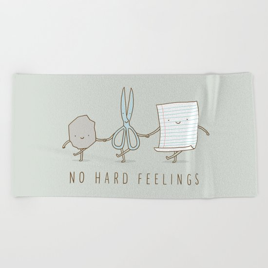 No Hard Feelings Beach Towel