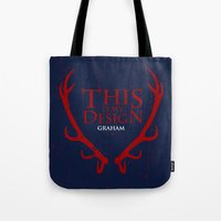 will graham Tote Bags featuring House Graham by Alecxps