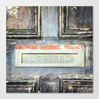 letters Canvas Prints featuring LETTERS by nineteeneighty