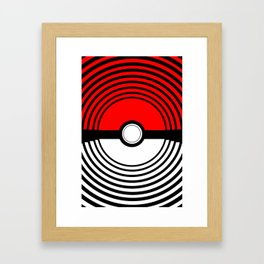 A Pokeball Within a Pokeball Framed Art Print