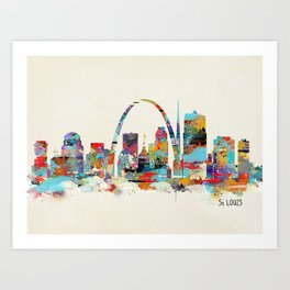 saint louis missouri skyline Art Print