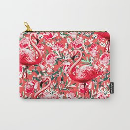 Flamingos and Flowers Carry-All Pouch