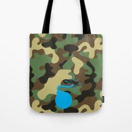 CAMO & LIGHT BLUE BOMB DIGGITY Tote Bag