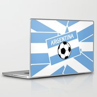 football Laptop & iPad Skins featuring Argentina Football by mailboxdisco