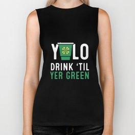 YOLO Drink Till Yer Green - Clover Leaf YOLO Biker Tank