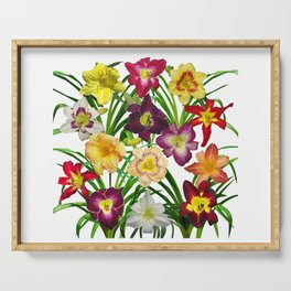 Display of daylilies I Serving Tray