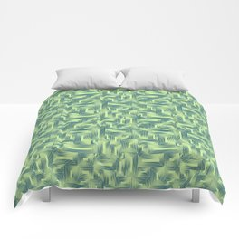 Kip and Flo in Blue on Lime Comforters