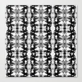 Tie-Dye Blacks & Whites Canvas Print