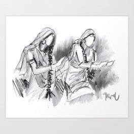 Gidda dancers Art Print